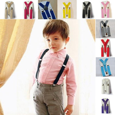 Online discount shop Australia - Baby Boys Girls Kid Children Clip on Y Back Elastic Suspenders Slim Adjustable Braces WY-01