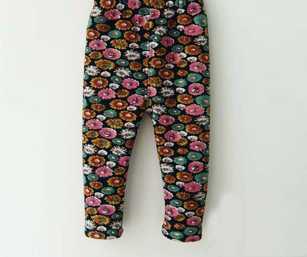 Online discount shop Australia - 0-2 Years Baby Girls Leggings Floral Print Casual Thick Pants for Kids clothing Cotton Warm Children's Trousers