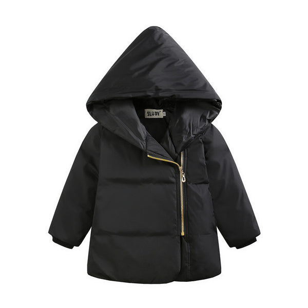 Online discount shop Australia - Fashion Children Girls Boys Warm Thick Down Parkas Children Long Outerwear Hooded Jacket Coat Clothing for Kids