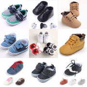 Newborn Baby Shoes Boys First Walkers Bebe Infant Sneakers Gingham Sport Shoes Toddler Crib Shoes Boots