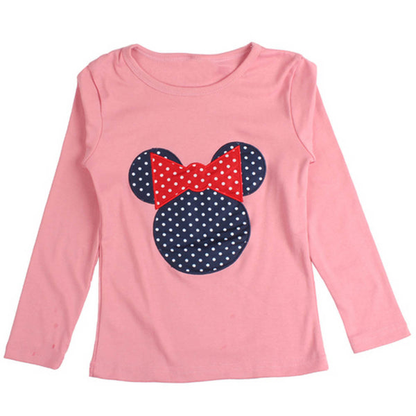 Online discount shop Australia - Baby Kids Cartoon Cat Print Long Sleeve T Shirt Toddler Clothes Baby Girls Clothing Casual Blouse Tops Children's Clothing