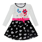 Online discount shop Australia - Girls dress two color 2-6T cartoon characters children's clothes pepa baby girl casual fashion baby frocks