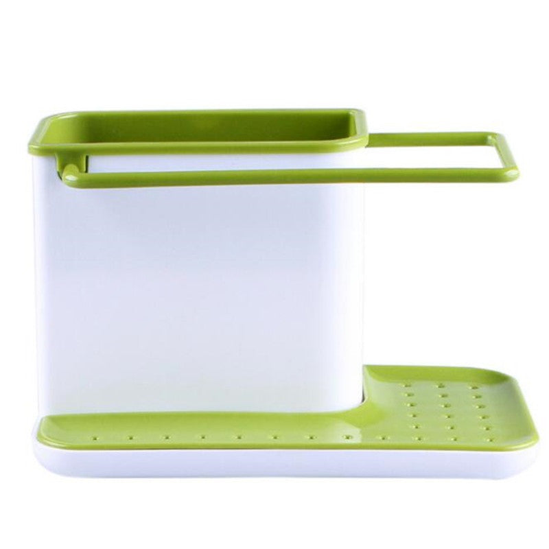 3 in 1 Glove Storage Debris Rack Dishclout Storage Box Kitchen Stands Utensils Cleaning ToolsGreena