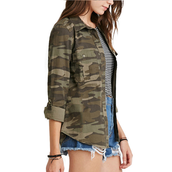 Online discount shop Australia - Brand New  Casual Fashion Women Camouflage Jacket Sheath Disposition Outerwear Vogue Ladies Coat