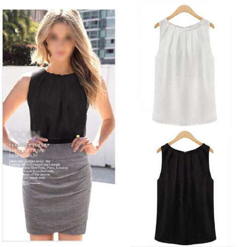 Online discount shop Australia - 1PC HOT Fashion Simple fashion women  sleeveless casual tank shirt blouse vest CATH