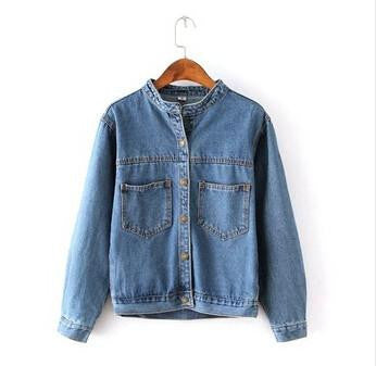 Online discount shop Australia - Fashion  Vintage Women's Jeans Loose Denim Jacket Women Short Jean Jacket jackets for women