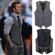 The new men's fashion leisure suit vest / Men's wedding banquet gentleman suit vest / Beckham with suit vest v-neck men