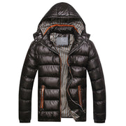 Online discount shop Australia - Men Fashion Casual Down Parka Hooded Man Coat Jacket Windproof High Quality Plus Size MWM516
