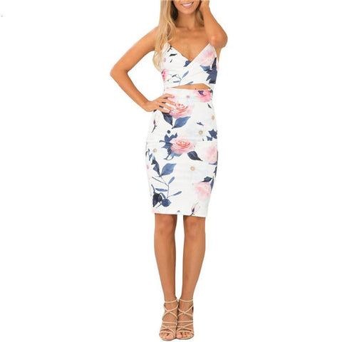 Summer Style Fashion Women Dresses Sexy Club Sleeveless Spaghetti Strap Cut Out High Street Sheath Knee Length Dress