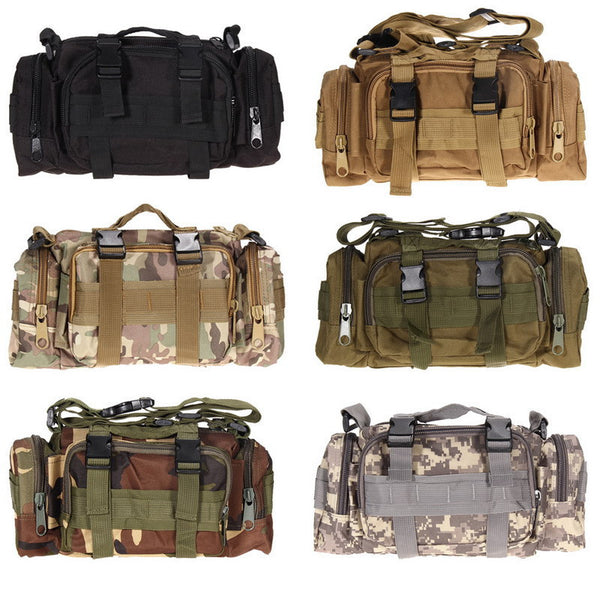 Online discount shop Australia - 600D waterproof Oxford fabric Climbing Bags Outdoor Military Tactical Waist Pack Molle Camping Hiking Pouch Bag H1E1