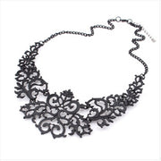 Newest Jewelry For Women Gift 3 Colors Hollow Flower Alloy Vintage Gold Plated Short Choker Statement Necklaces & Pendants