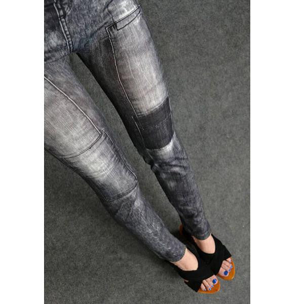 Women Skinny Denim Stretch Jeggings Trousers Jeans Pants Leggings 2 Colours