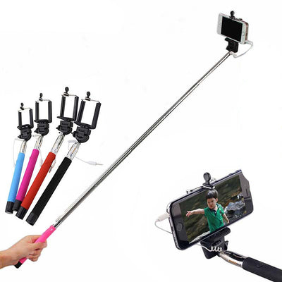Online discount shop Australia - Hot 22-100 CM Extendable Handheld Monopod Audio Cable Wired Palo Selfie Stick For Iphone 6 plus 5s 4s Samsung Android Self-Pole