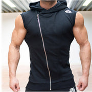 Online discount shop Australia - Mens Sleeveless Sweatshirt Hoodies Top Clothing T-Shirt Hooded Tank Top Sporting Hooded for Men Cotton Solid T Shirts Hooded