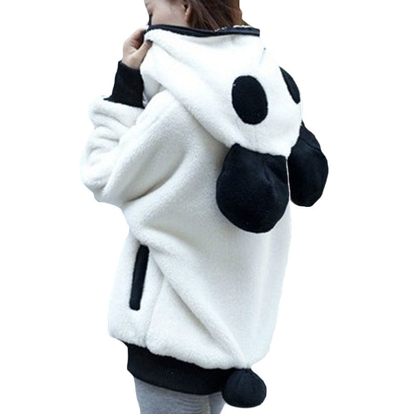Online discount shop Australia - Korea Panda Ear Women Hoodies with Hood Wool Batwing sleeve Sweatshirt Casual Cute Outwear