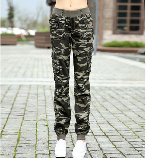 Online discount shop Australia - camouflage pants women Camouflage Cargo pants women Military fashion Casual Loose Baggy pants