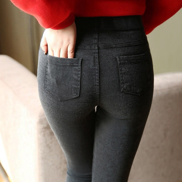 Online discount shop Australia - Ladies Casual Stretch Denim Jeans Leggings Jeggings Pencil Pants Thin Skinny Leggings Jeans Womens Clothing