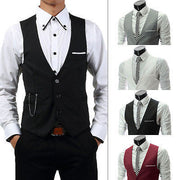 Online discount shop Australia - New Arrival Mens Slim Fit Vest Suit Three Buttons Men's Fitted Leisure Waistcoat Casual Business Jacket Tops