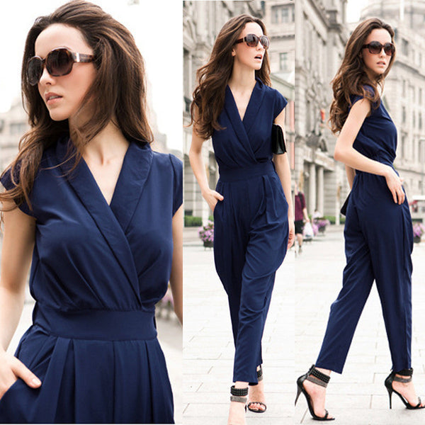 Jumpsuit women's overall sexy fashion waist jumpsuit pants overalls 3 colors XXXL plus siz