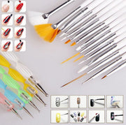 Online discount shop Australia - 20 pcs Nail Art Design Set Dotting Painting Drawing Polish Brush Pen Tools