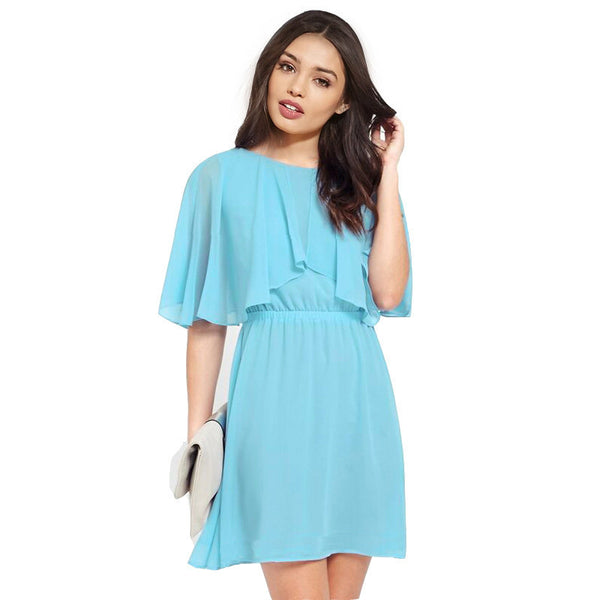 New Fashion Plus Size 6XL Summer Slim Loose Beach Skater Solid Dress Chiffon Women Office Vintage Casual Dresses XXXXL 5XL
