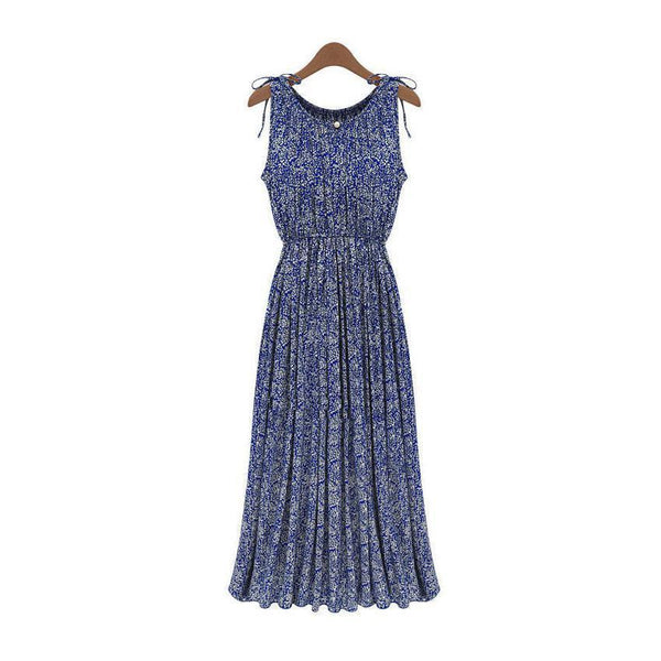Women Long Dresses Clothes Lady Floral Boho Maxi Evening Party Dress Beach Dress