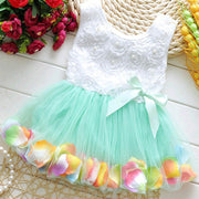 Online discount shop Australia - Kid Girls Princess Toddler Baby Party Tutu Lace Bow Flower Dresses Clothes
