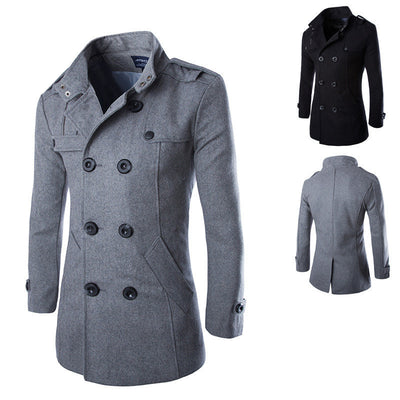 Online discount shop Australia - Men Casual Jacket Wool Coat Trench Coat Men Slim Fit Overcoat For Men Pea Coat Down & Parkas Plus Size:M-XXXL