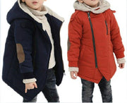 New Brand Kid's Fashion & Casual Jackets Boy's Cashmere Long Sleeve Hooded Coats Kids Warm Clothing