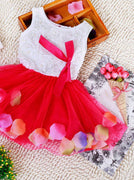 New Colorful Mini Tutu Dress Petal Hem Dress Floral Clothes Princess Baby Dress For Baby Dresses Girl