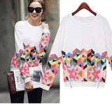 Women SweatShirt Thicken Clothes Printed Casual Hoodies Warm Pullover