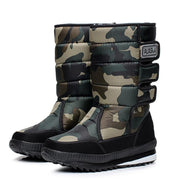 Warm men's thickening platforms water proof shoes military desert male knee-high snow boots outdoor hunting 47