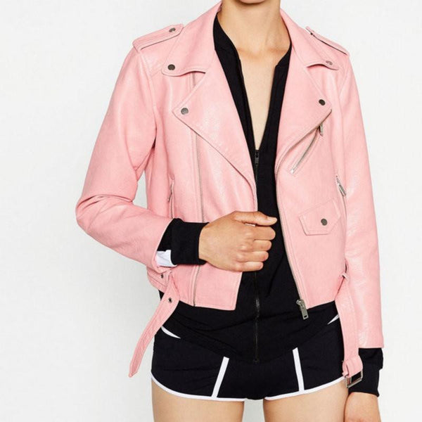 Online discount shop Australia - New  Women Faux Soft Leather Jackets Long Sleeve Motorcycle Coat Drop Shipping