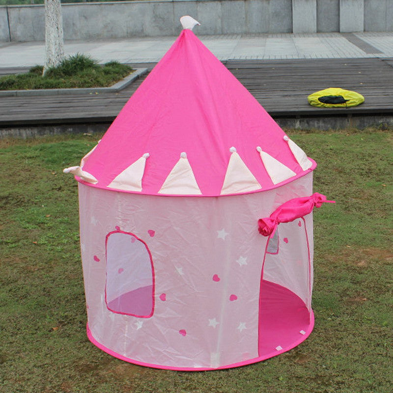 Play House Tent Children Playhouse Portable Pink Pop Up