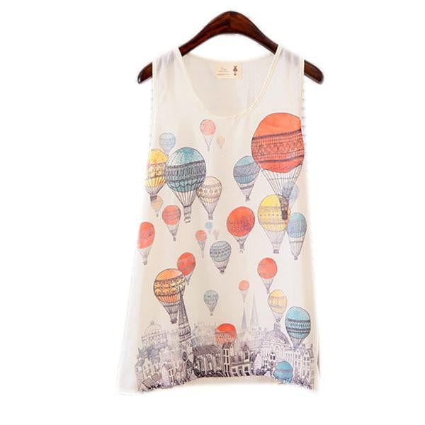 Online discount shop Australia - Lovely Fashion Women Girls Sleeveless Vest Tank Cami Tops Blouse Casual  Free Shippping