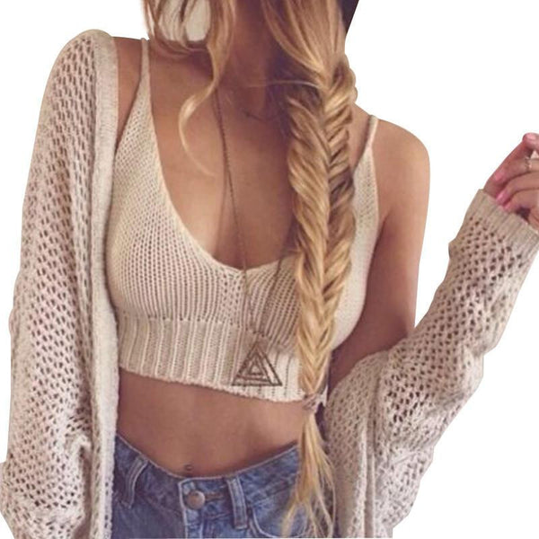 women sexy crop top brandy melville tops bandage spaghetti strap ladies black white lace knitted tank top