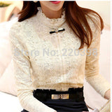 Online discount shop Australia - fashion women tops Women  Blouses & Shirts Fleece Women Crochet Blouse Lace Shirt 999