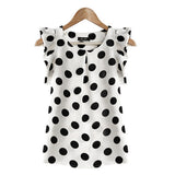 Online discount shop Australia - Fashion Girl Women Casual Chiffon Tshirt Short Sleeve Shirt T-shirt Tops