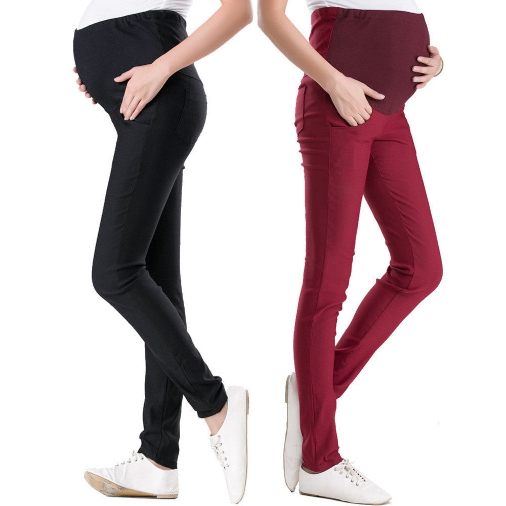 15 Color Casual Maternity Pants for Pregnant Women Maternity Clothes for Overalls Pregnancy Pants Maternity Clothing01 Blackish Greena