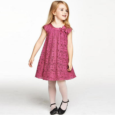 Online discount shop Australia - New Arrival Baby Kids Girl Lace Princess Lovely Short Tulle Party Dress 2-7Years