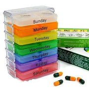 Newest Medicine Weekly Storage Pill 7 Day Tablet Sorter Box Container Case Organizer
