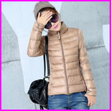 New Designer Fashion La dies Short Overcoat Women Brand 90% White Duck Down Coat Jackets Plus Size XXXL