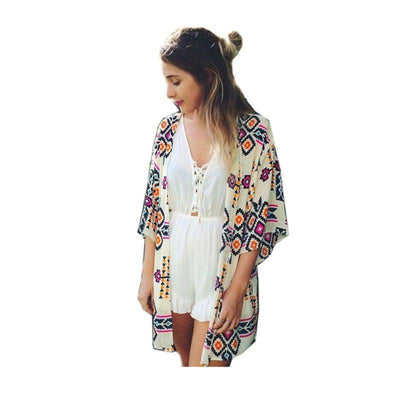 shirt style new tops women blouses printed shirts casual vintage cardigan plus size