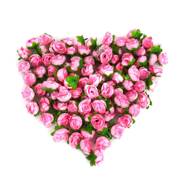 Online discount shop Australia - 100pcs/a set Rose Artificial Silk Flower Heads Wedding decoration Craft optional color