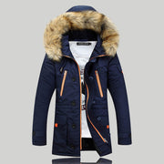 New Mens Parka Clothing Thicking Men Jacket Coat With Fur Hood high Quality Jackets Men plus size Vestidos