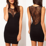 Online discount shop Australia - Casual Dresses Women See-through Sleeveless Sexy Fashion Girl Black Lace Wrap Dress