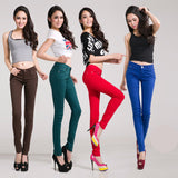 Online discount shop Australia - lady candy colored casual trousers Ms. stovepipe pencil ankle-length jeans women jeans