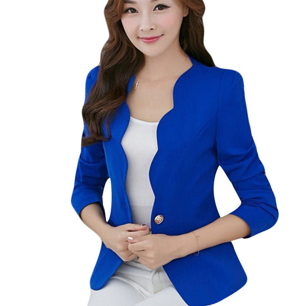 Online discount shop Australia - Cueca Casual  Jacket Women Slim Short Design Suit Jackets Office Women Coat Clothing Vestidos