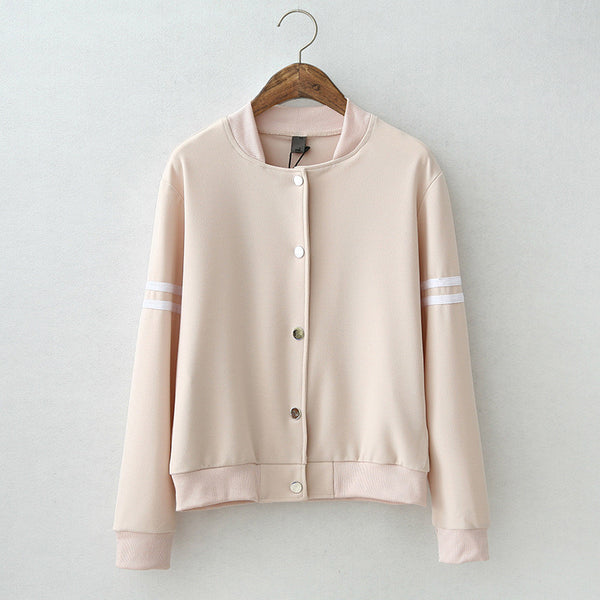 Online discount shop Australia - Brand New Cute Baseball Jacket Long Sleeve bomber jacket Stand Collar Chaquetas Slim Womens Coats And Jackets