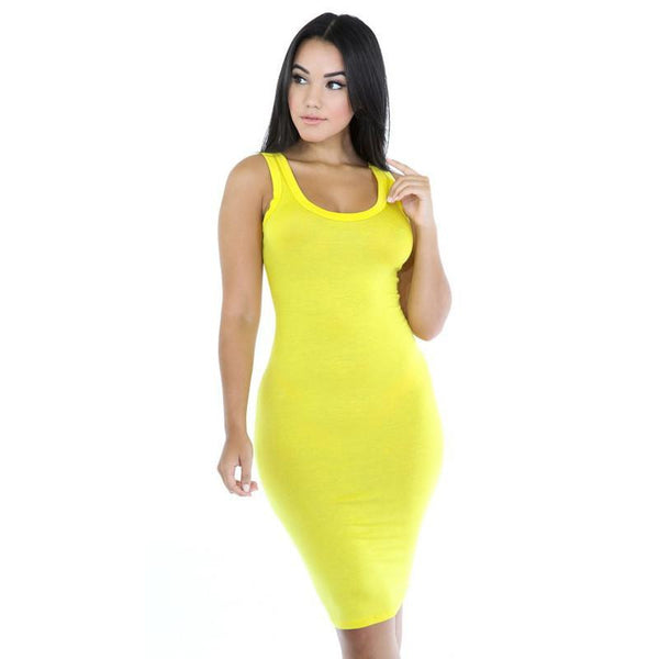 Sundress Women Dress Casual Robe Beach T Shirt Dress Bodycon Tunique Yellow Green Red Black Dresses